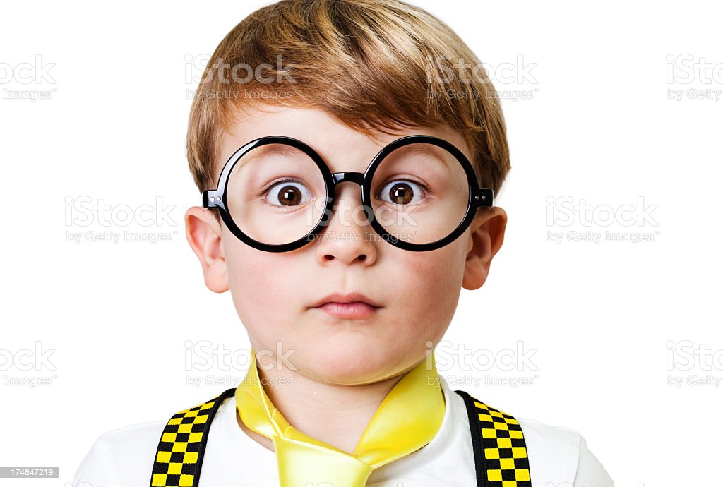 Portrait of a shocked child royalty-free stock photo