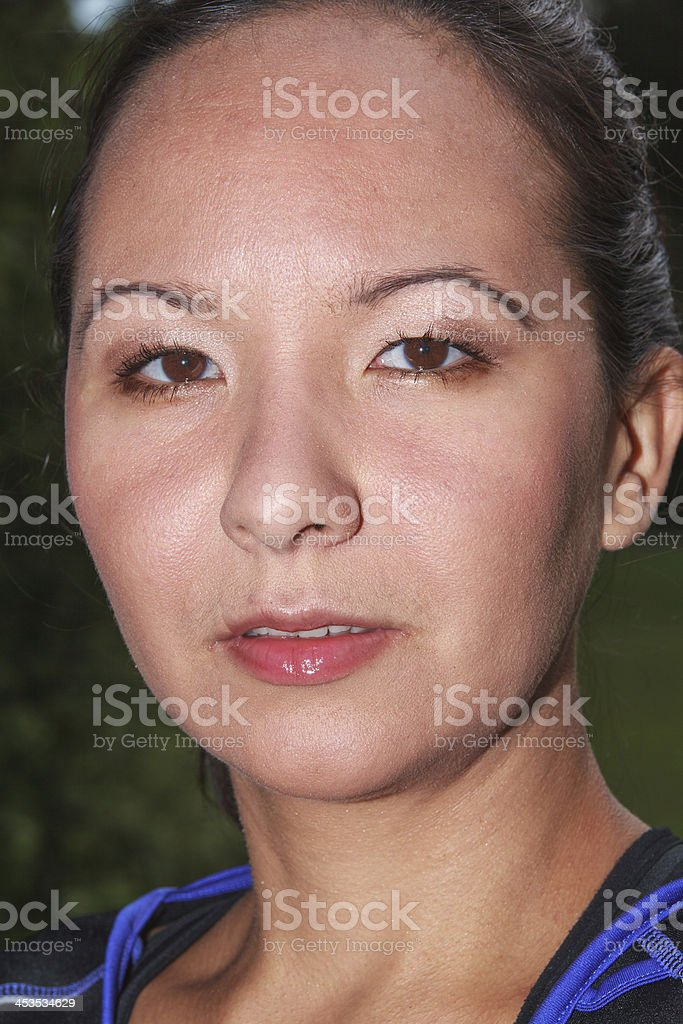 Portrait of a Siberian woman stock photo