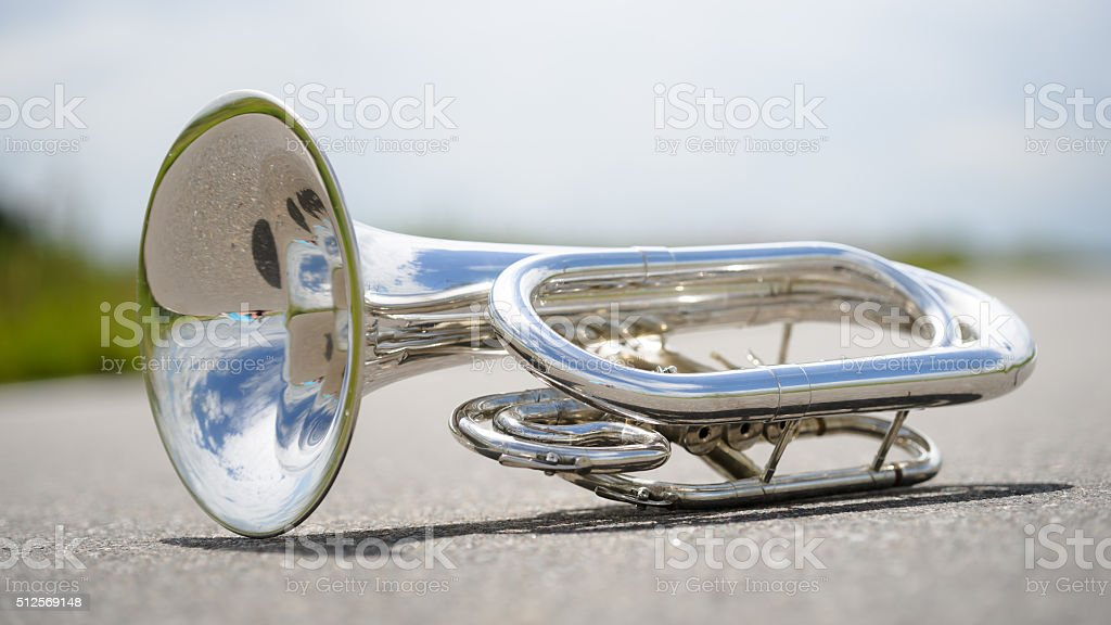 Portrait of a silver baritone stock photo