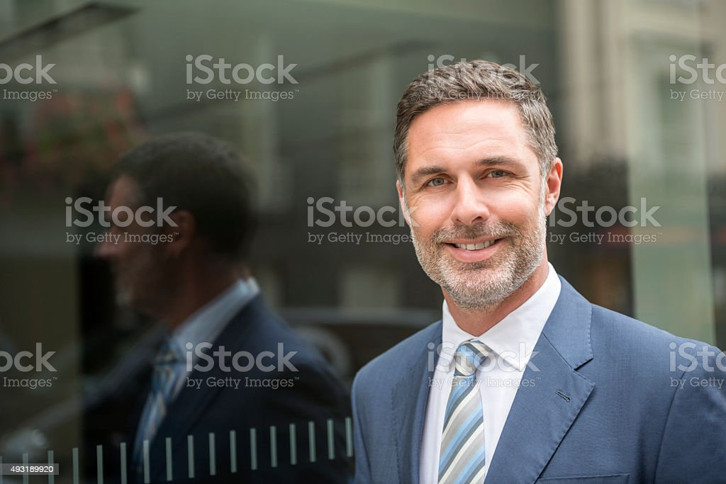 Portrait of a smart businessman stock photo