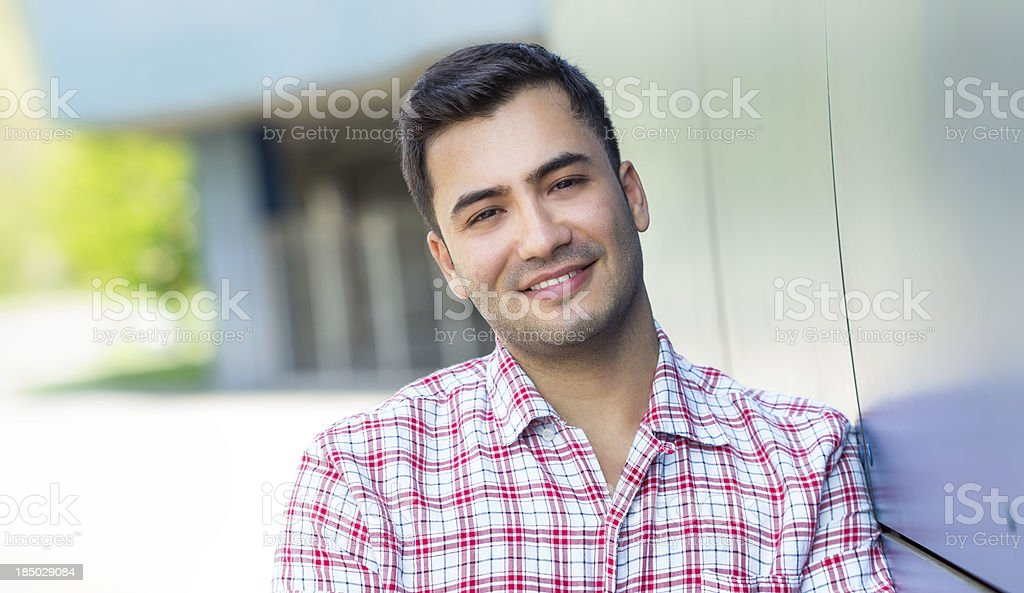 Portrait of a smile young man stock photo