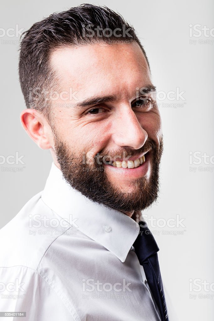 portrait of a smiling business man stock photo