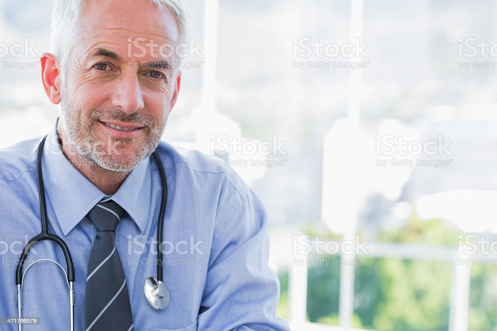 Portrait of a smiling doctor stock photo