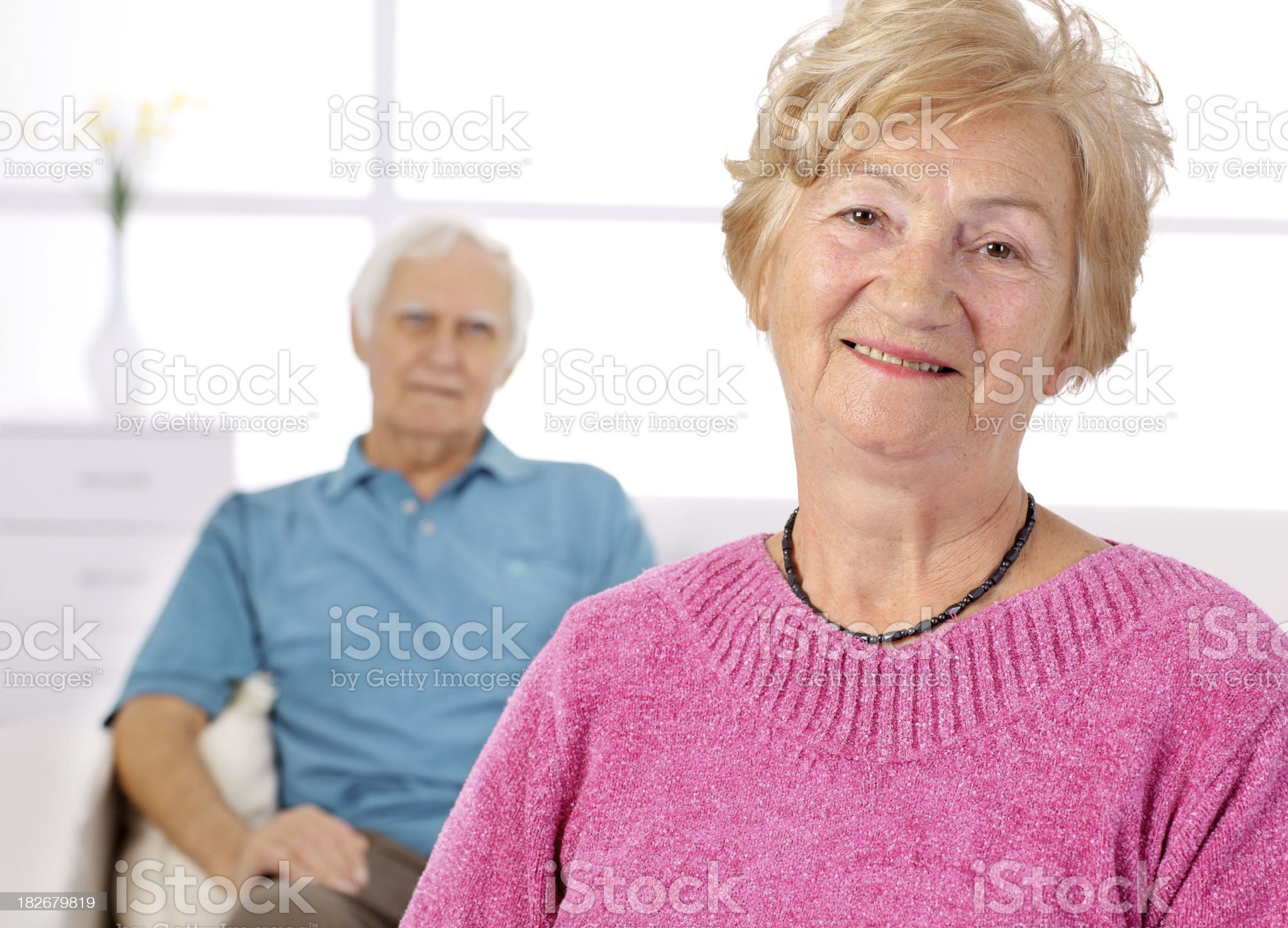 Portrait of a smiling elderly lady. royalty-free stock photo