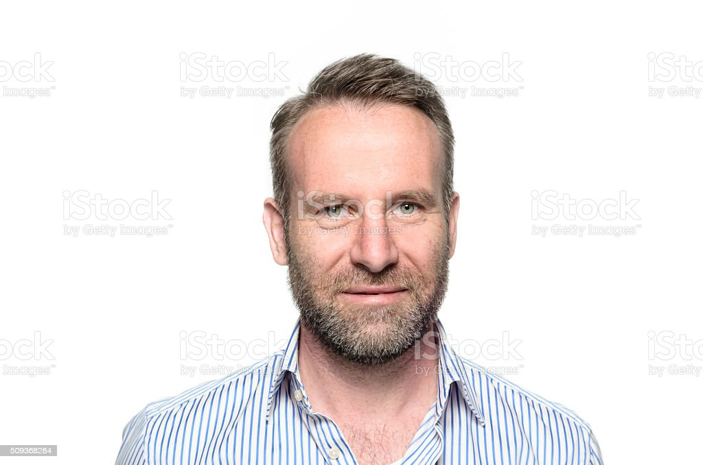 Portrait of a smiling happy handsome man stock photo