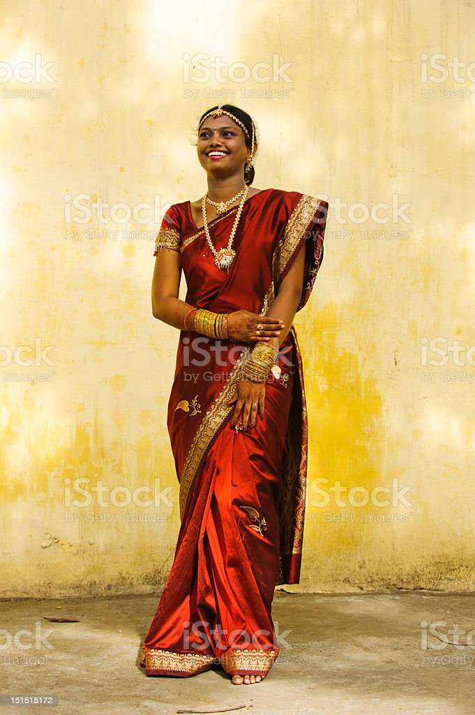 portrait of a smiling indian bride royalty-free stock photo