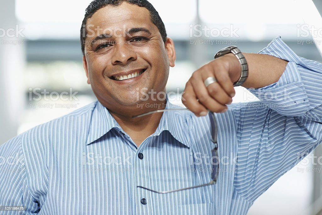 Portrait of a smiling mature businessman royalty-free stock photo