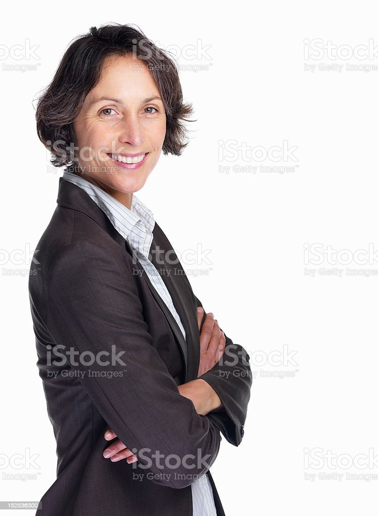 Portrait of a smiling mature businesswoman royalty-free stock photo