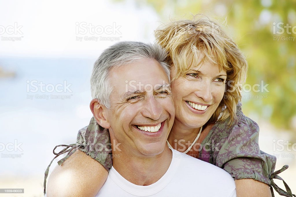 Portrait of a smiling mature couple royalty-free stock photo
