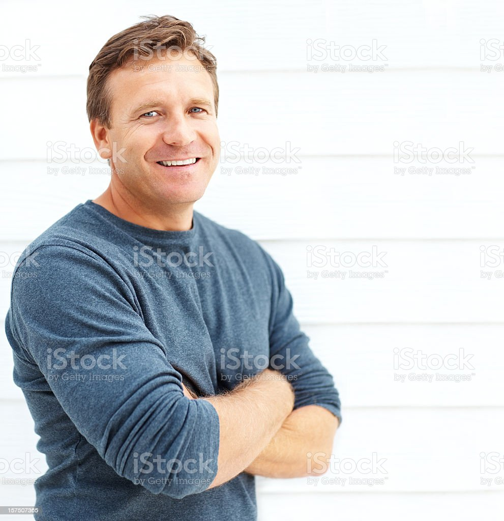 Portrait of a smiling mid adult man royalty-free stock photo