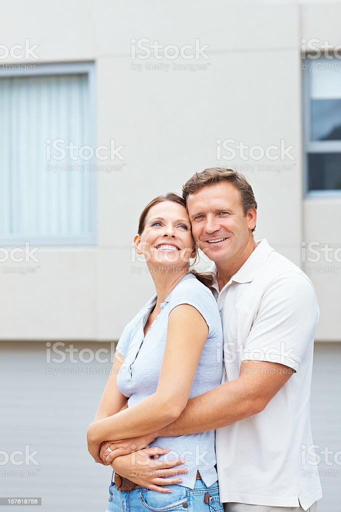 Portrait of a smiling romantic mature couple royalty-free stock photo