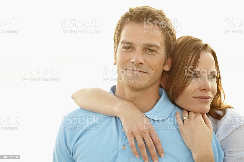 Portrait of a smiling romantic mid adult couple royalty-free stock photo