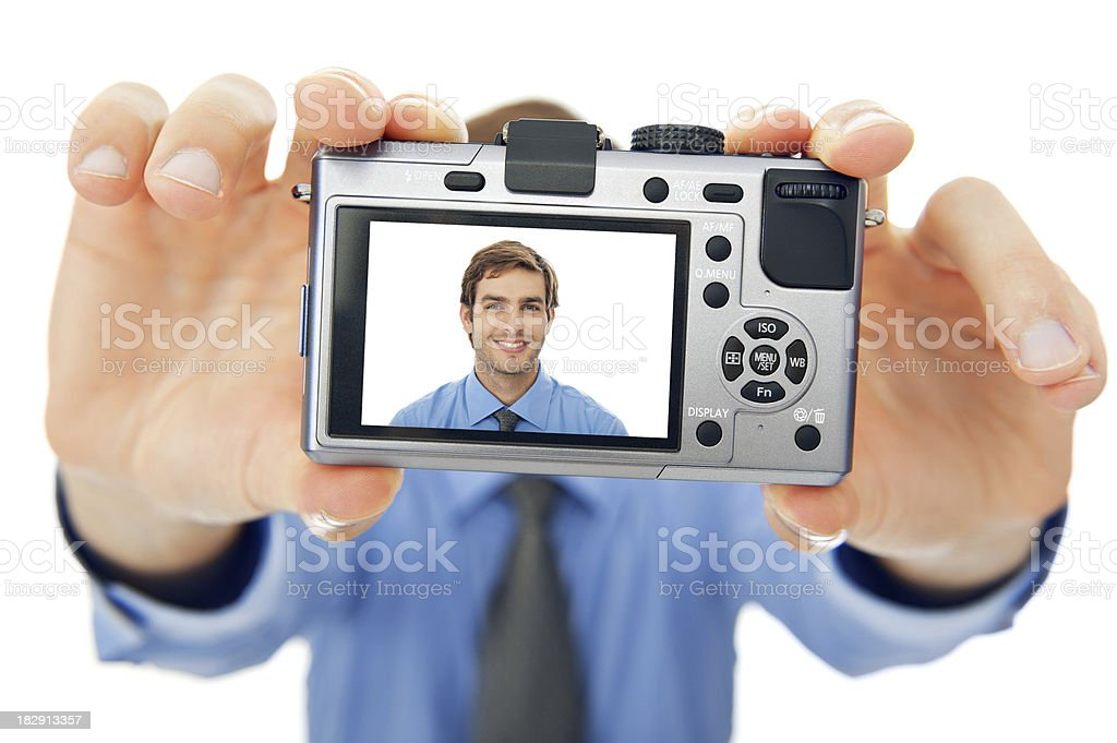 Portrait of a smiling young businessman royalty-free stock photo