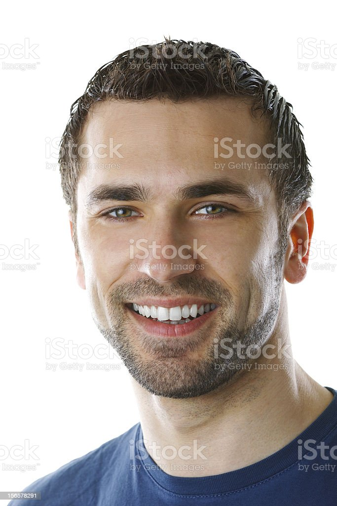 Portrait of a smiling young man royalty-free stock photo