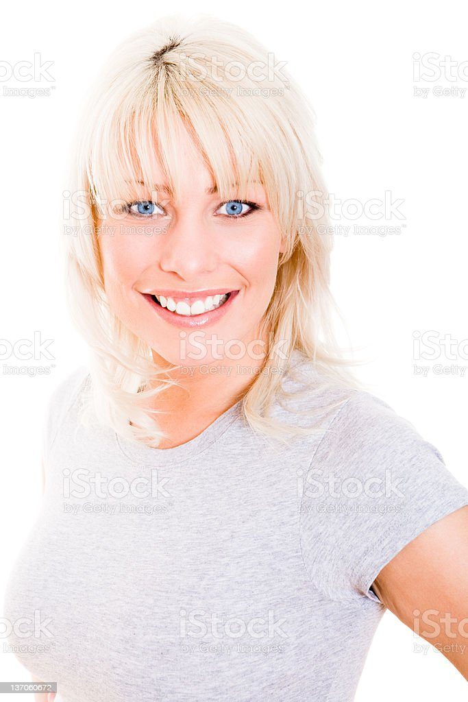Portrait of a smiling young woman royalty-free stock photo