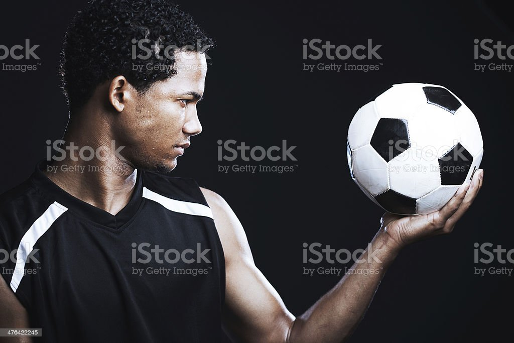 Portrait of a soccer player. royalty-free stock photo