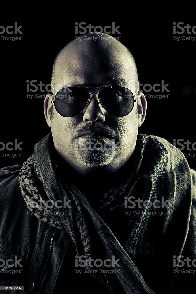 portrait of a soldier stock photo