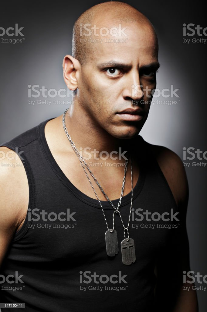 Portrait of a solider or veteran royalty-free stock photo