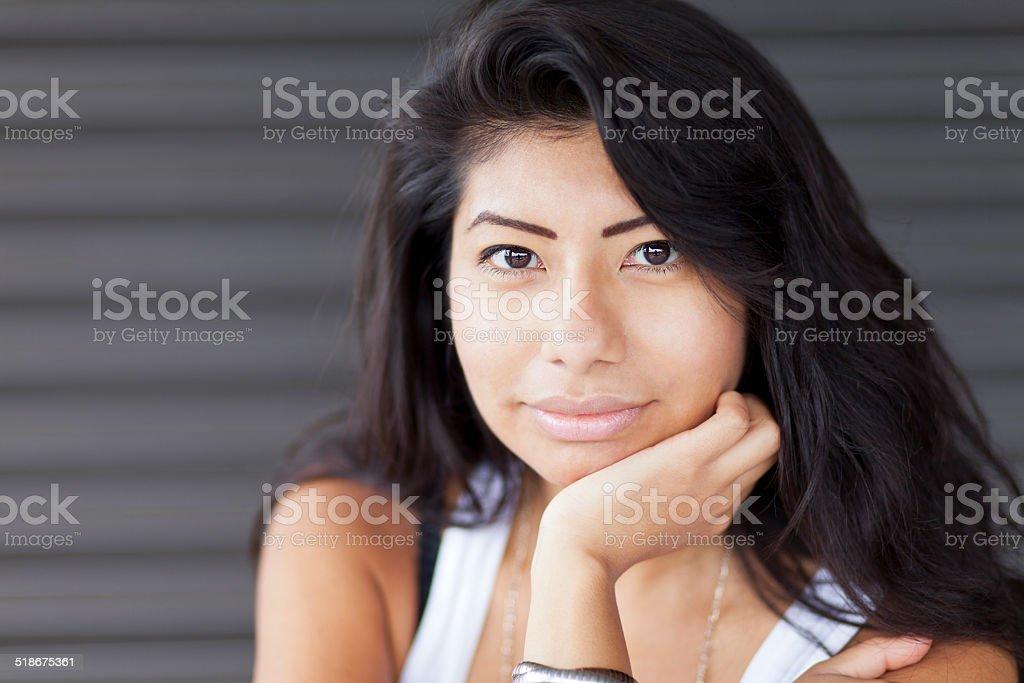 Portrait Of A Spanish Woman stock photo