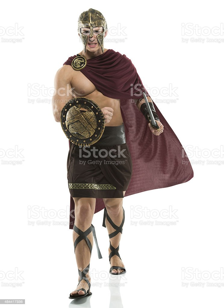 Portrait of a sparta warrior royalty-free stock photo