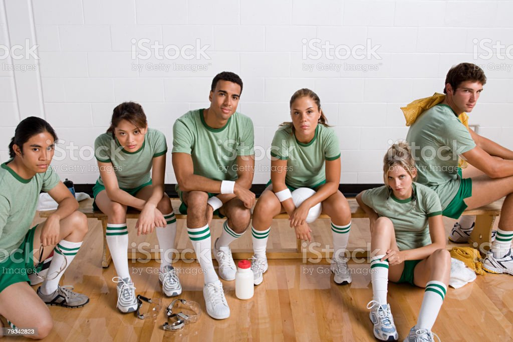 Portrait of a sports team stock photo