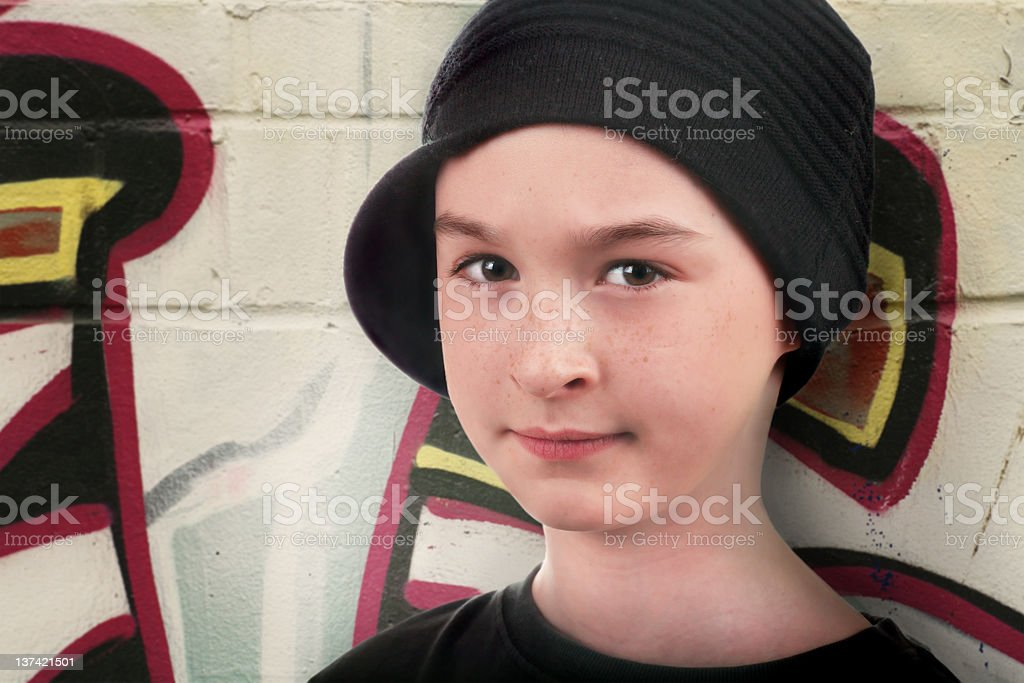 portrait of a street kid royalty-free stock photo
