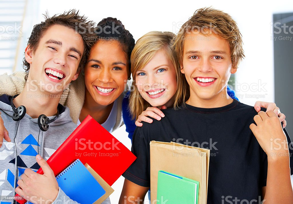 Portrait of a study group royalty-free stock photo