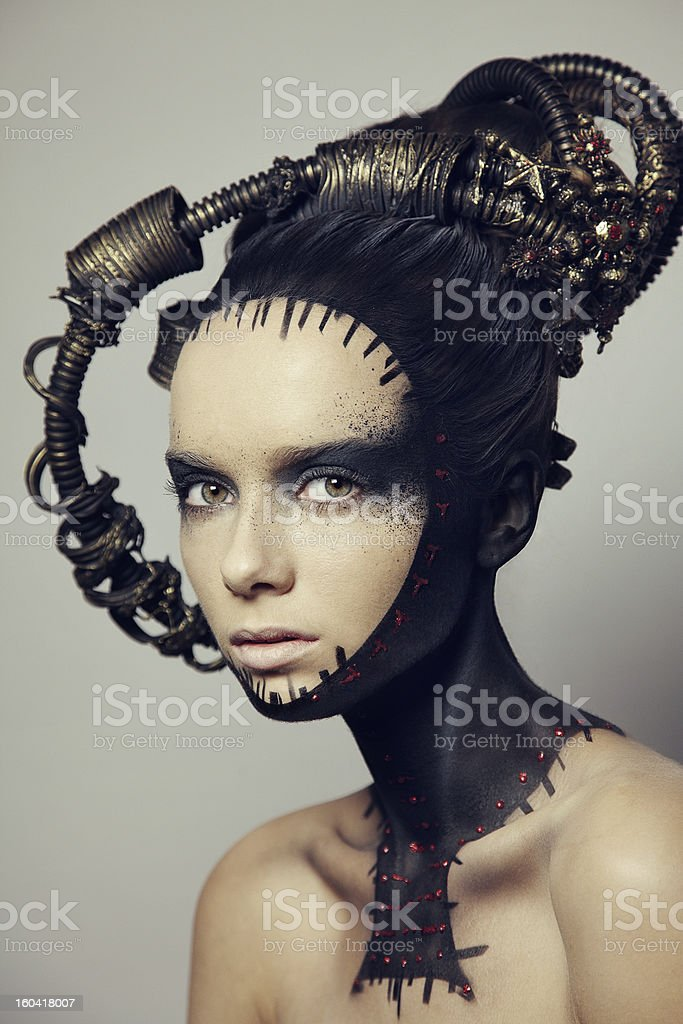A portrait of a stunning female stock photo