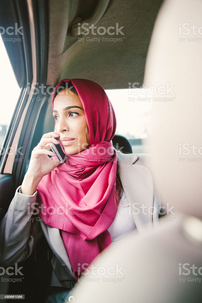 Portrait Of A Successful Businesswoman On The Phone stock photo