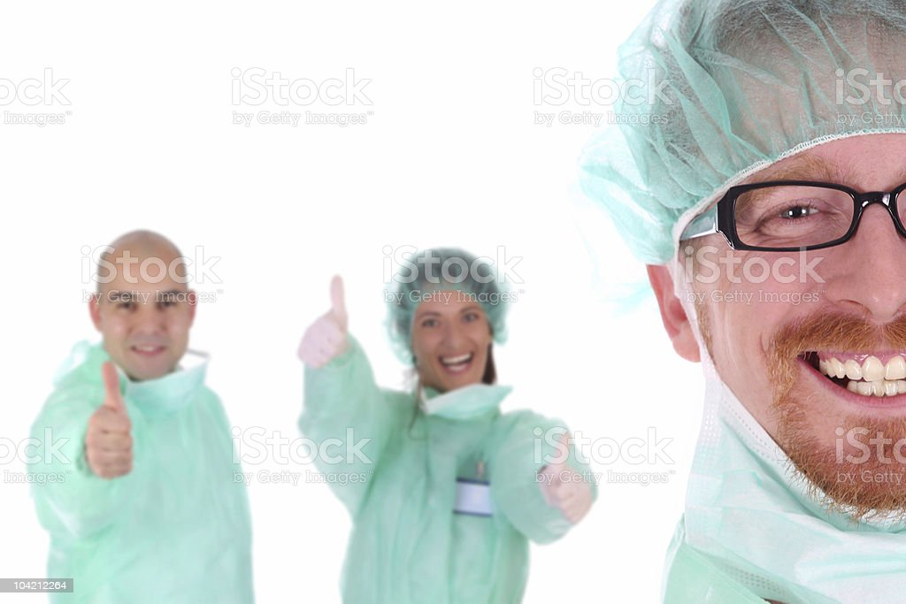 portrait of a surgeon royalty-free stock photo