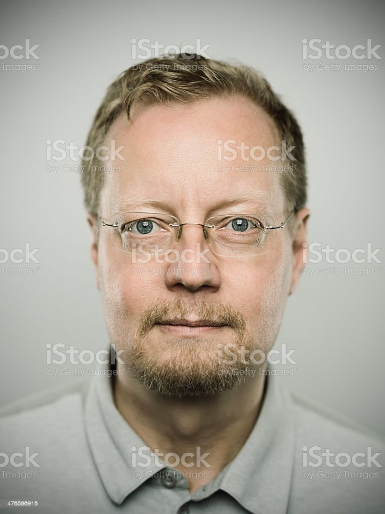 Portrait of a swedish real man stock photo