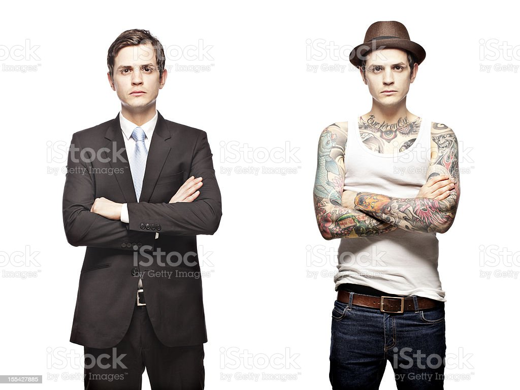 Portrait of a tattooed person royalty-free stock photo