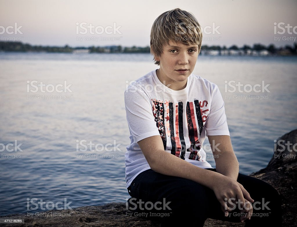 Portrait of a Teen Boy royalty-free stock photo