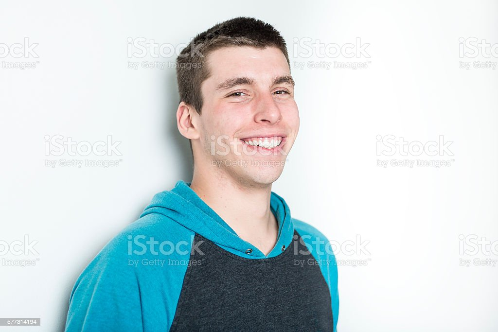 Portrait of a teen stock photo