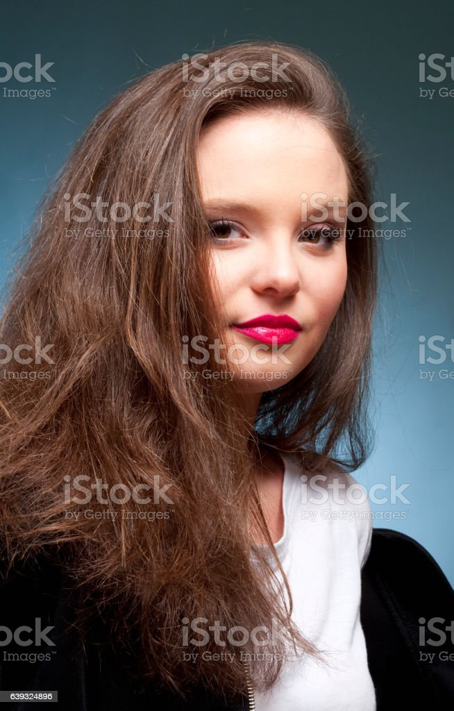 Portrait of a Teenage Girl stock photo