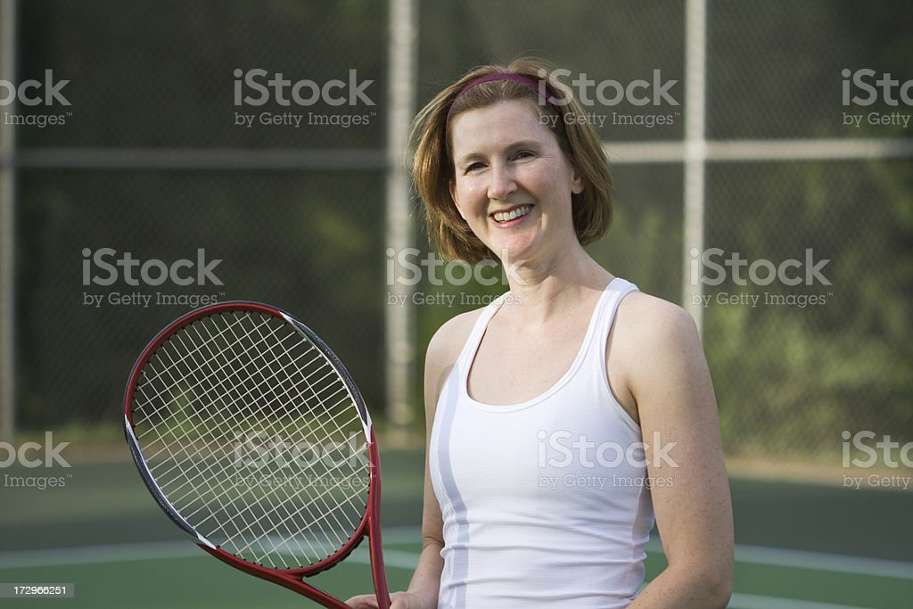 Portrait of a Tennis Player royalty-free stock photo