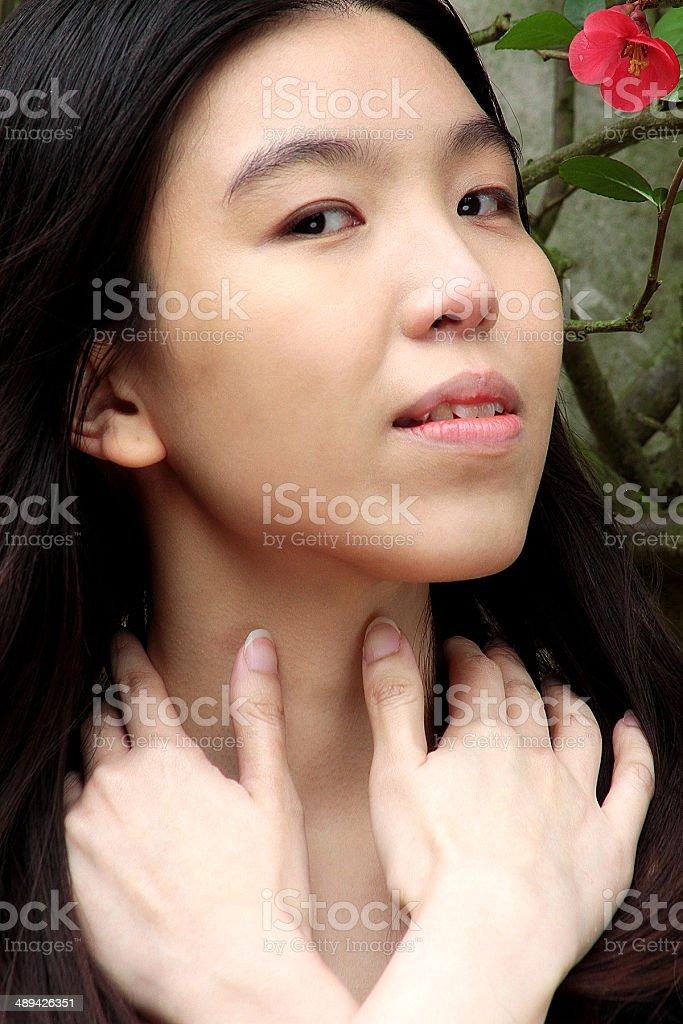 Ritratto di una ragazza di tailandese foto stock royalty-free