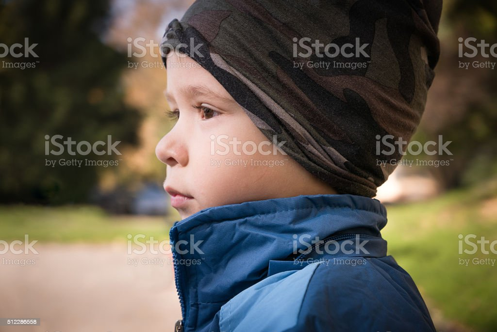 Portrait of a toddler stock photo