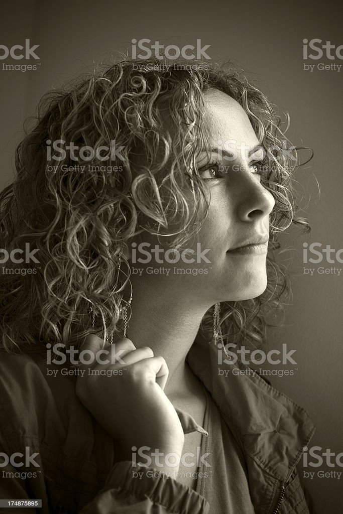 Portrait of a Turkish girl, royalty-free stock photo