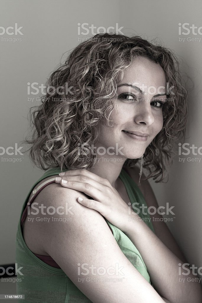 Portrait of a Turkish girl royalty-free stock photo