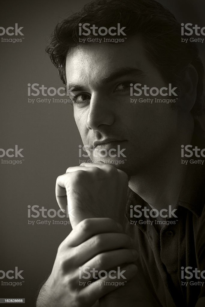 Portrait of a Turkish man. royalty-free stock photo