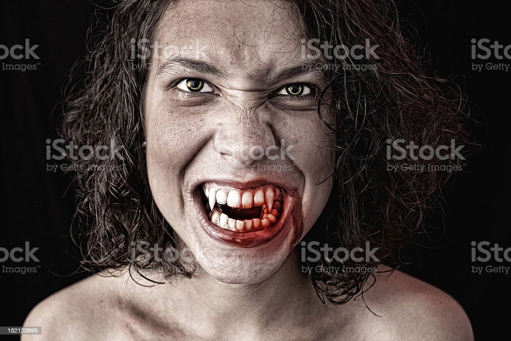 portrait of a vampire royalty-free stock photo
