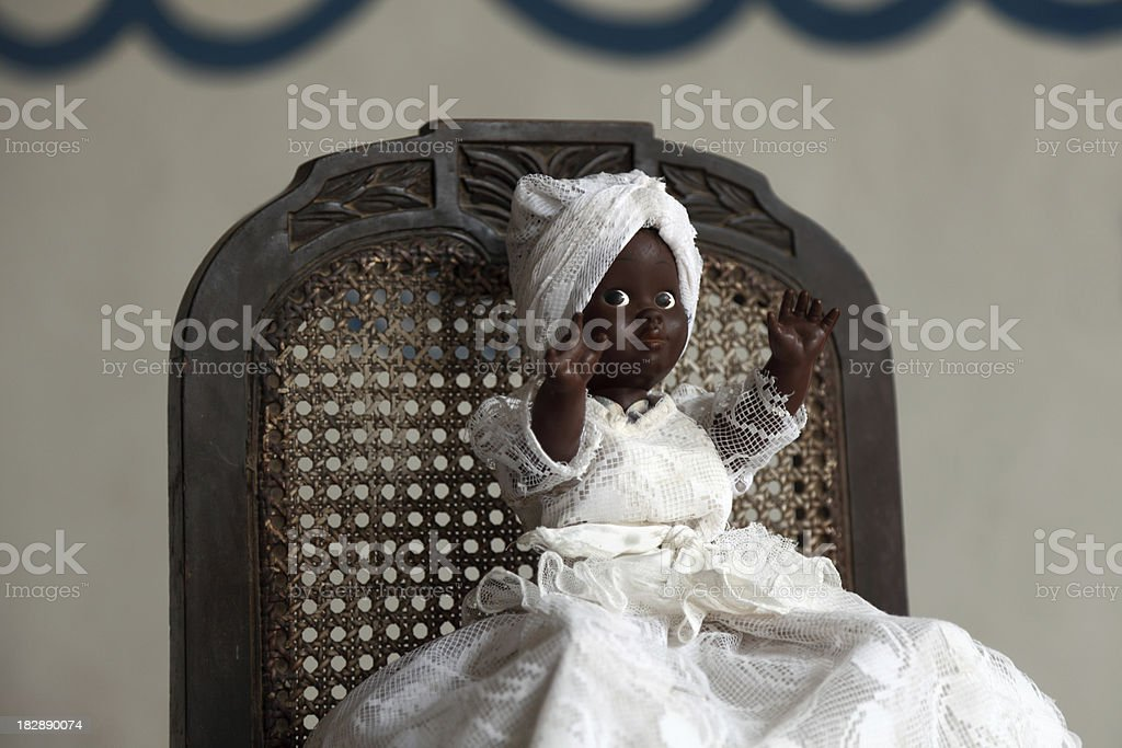 portrait of a voodoo queen doll stock photo