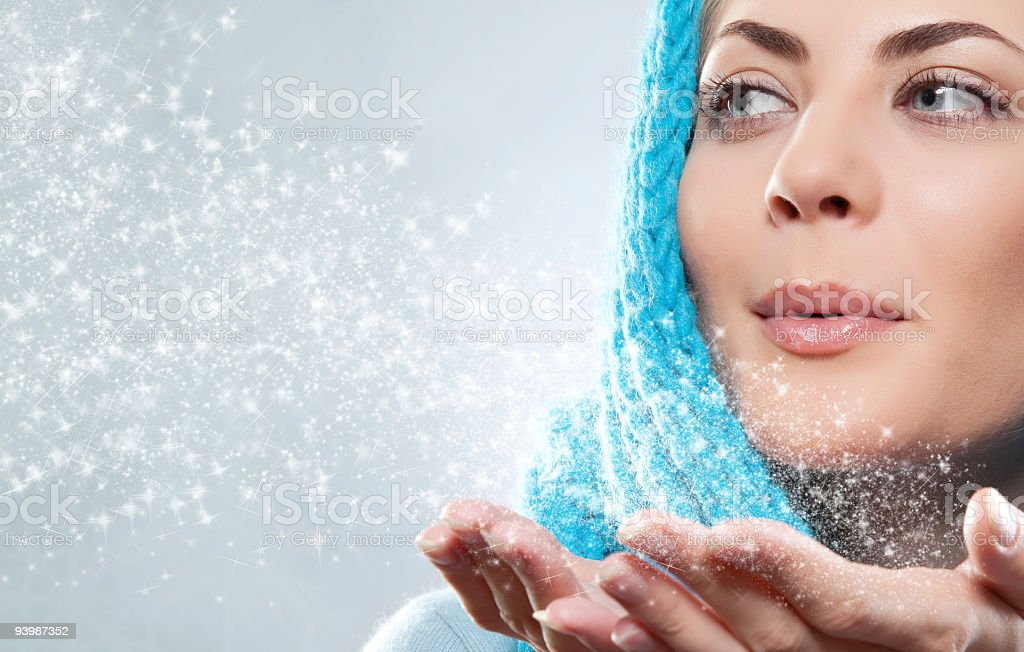 portrait of a winter woman royalty-free stock photo