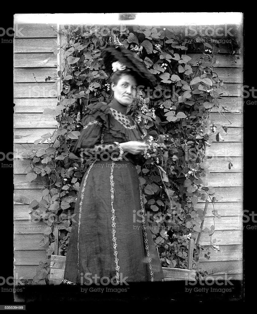 Portrait of a Woman, Circa 1890 stock photo
