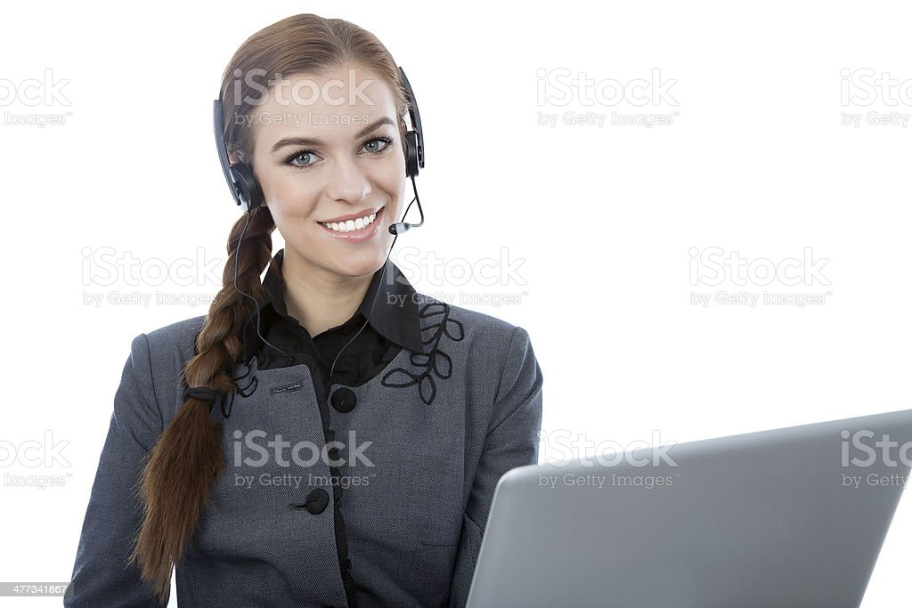 Portrait of a woman customer service worker royalty-free stock photo