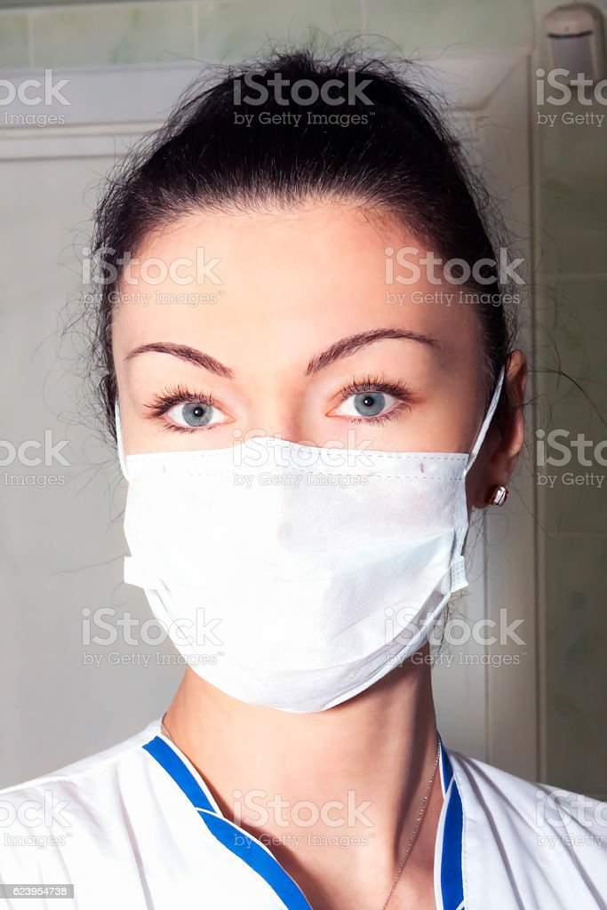 Portrait of a woman surgeon doctor stock photo