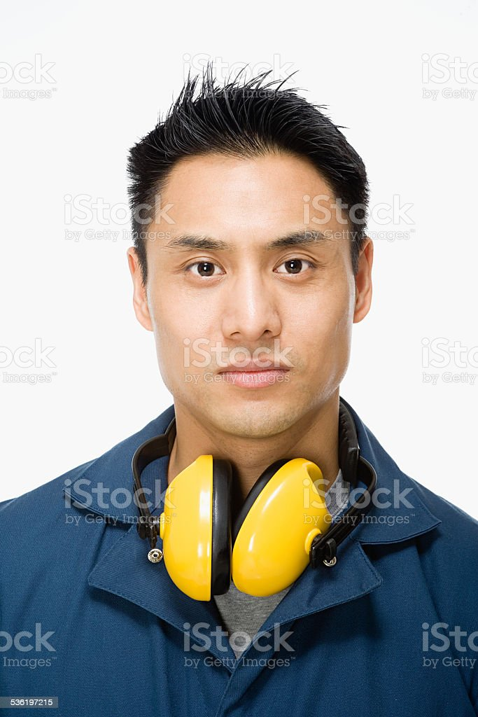 Portrait of a workman stock photo
