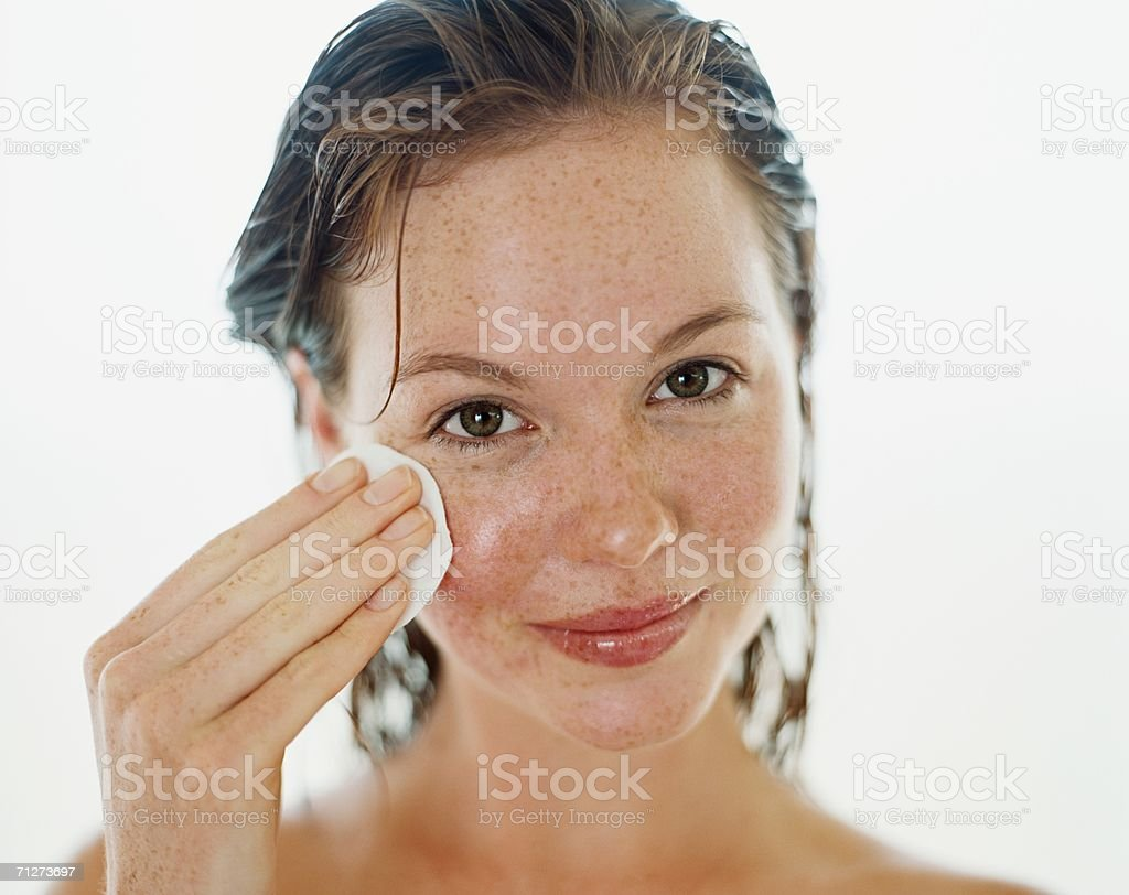 Portrait of a young adult woman stock photo