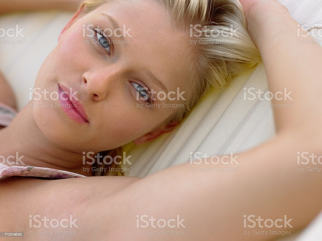 Portrait of a young adult woman royalty-free stock photo